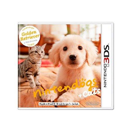Nintendogs + Cats Golden Retriever (Sem Capa) - Usado - 3DS
