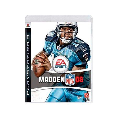 Madden NFL 08 - Usado - PS3