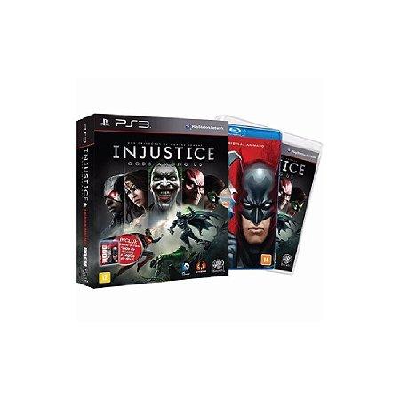 Injustice Gods Among Us + Filme Liga da Justiça -Usado - PS3
