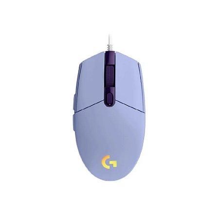 Mouse Gamer Logitech G203 LIGHTSYNC - Lilás
