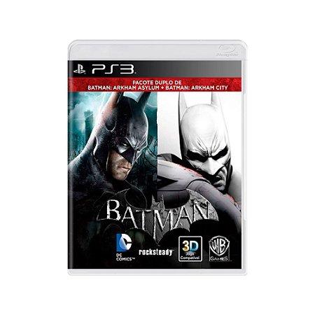 Batman Arkham Asylum + Batman Arkham City - Usado - PS3