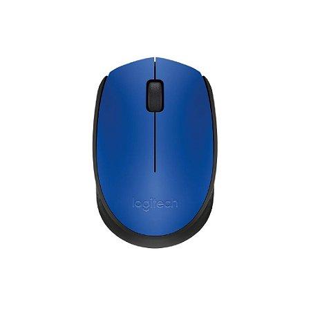Mouse Sem Fio Logitech M170 - Azul