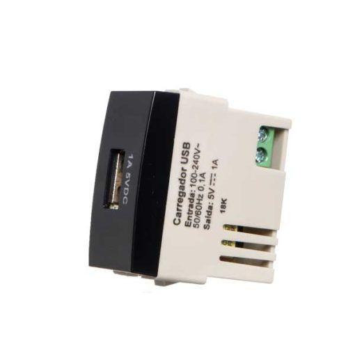 Sleek PT - Modulo Tomada carregador USB 1A Margirius