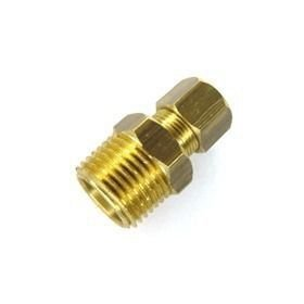 Gas - Adaptador Macho NPT 1/2'' x 3/8'' Anilha