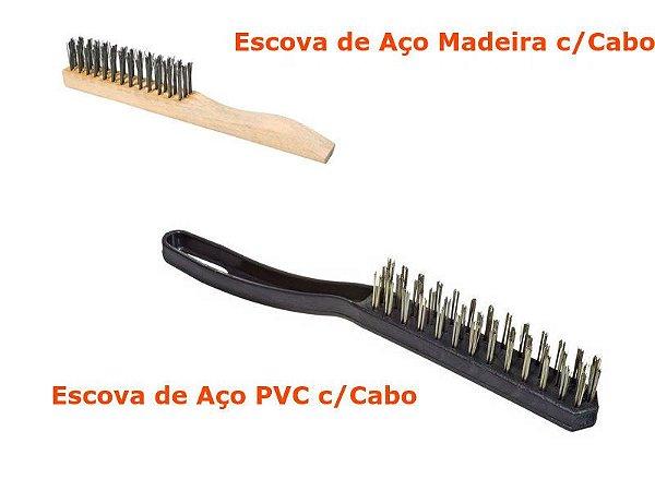 Escova Aço c/Cabo