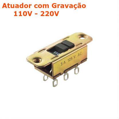 Interruptor Deslizante Metalico HH-201