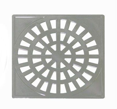 Grelha PVC Quadrada Cromado
