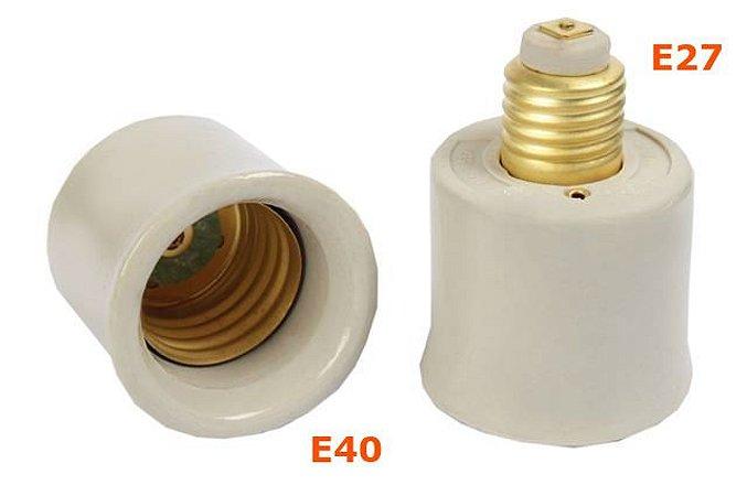 Soquete Rosca Aumento E27 x E40 Porcelana