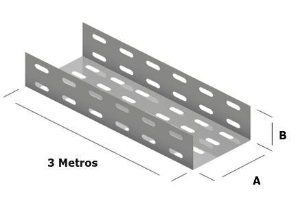 Eletrocalha Perfurada 3 Metros