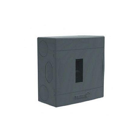 Caixa Eletrica Cinza Top p/4 Disjuntores