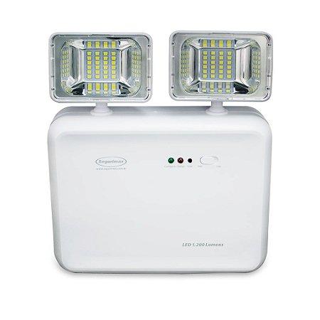 Iluminação de Emergencia Led 1200 Lumens 2 Farois - Predial