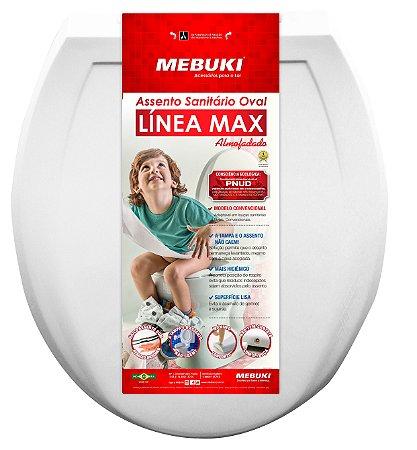 Assento Sanitario Almofadado Oval Linea Max