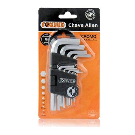 Chaves Allen 1,5mm a 10mm - Kit 9 Peças