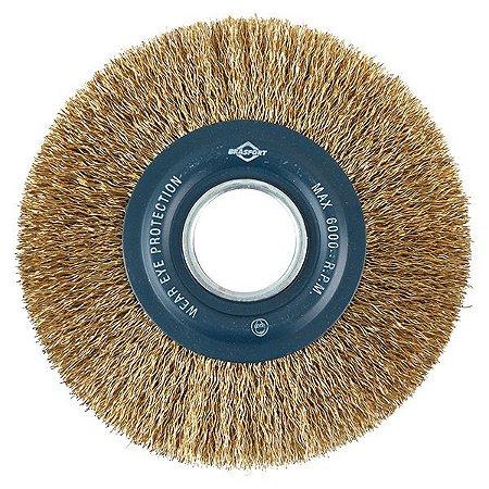Escova de Aço Circular 6'' A. 3/4'' - Aço Latonado