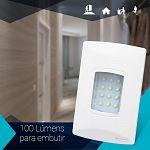 Iluminação de Emergencia Segurimax Embutir 12 Leds