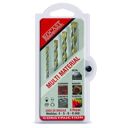 Kit de Brocas Multimateriais 4 peças - 4,0 a 8,0mm