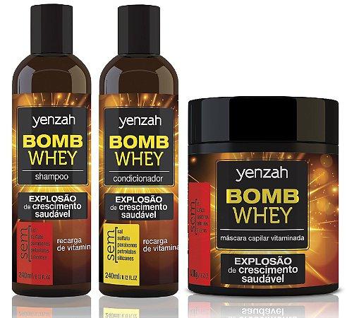 Kit Crescimento Capilar Yenzah - Linha Bomb Whey