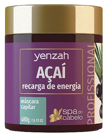 Yenzah Máscara de Açaí - Recarga de Energia - Linha SPA do Cabelo