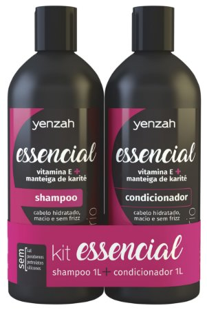 Yenzah Essencial - Shampoo 1L + Condicionador 1L