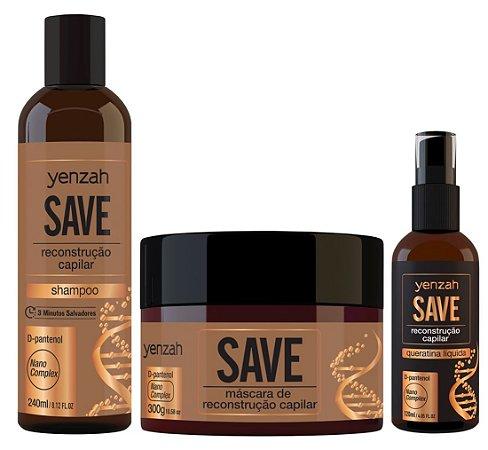 Kit Save - Shampoo + Máscara + Queratina