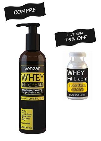 Whey Fit Cream: Compre o Leave-in e leve a Ampola com 75% OFF