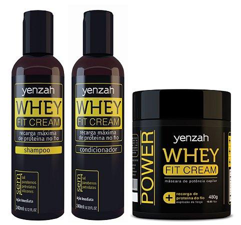 Whey Fit Cream: Shampoo + Condicionador + Máscara