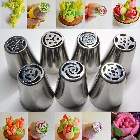 Kit 5Bicos Russo Para Confeitar Bolos E Cupcakes