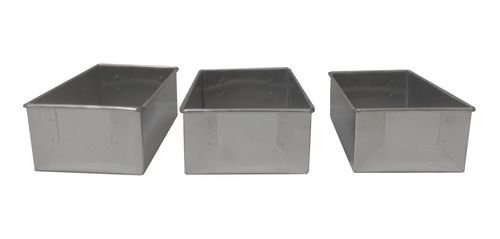 Kit 3 Formas Bolo De Kilo(caixa De Leite) Alumínio