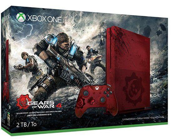 Console Xbox One S 2TB (Gears of War 4 Edição Limitada) + Jogo Gears of War 4: Ultimate Edition - Microsoft
