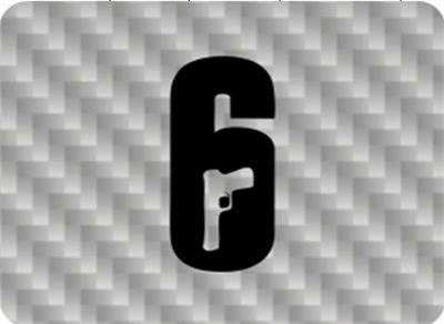 Skim Touch Pad Carbono Prata Rainbow Six - Ps4