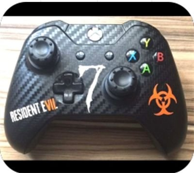 Skim Controle Carbono Preto Resident Evil 7 - Xbox one