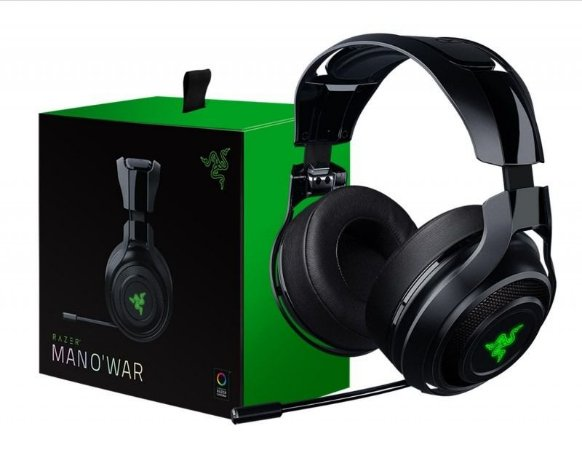 Headset Gamer Razer Man O´War 7.1 Preto