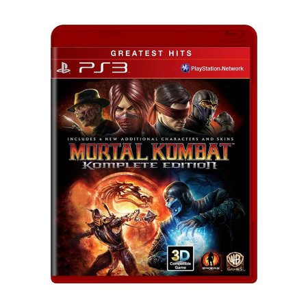 Jogo Mortal Kombat (Komplete Edition) - Ps3 Usado