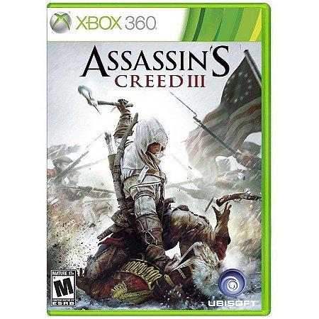 Jogo Assassins Creed III Xbox 360