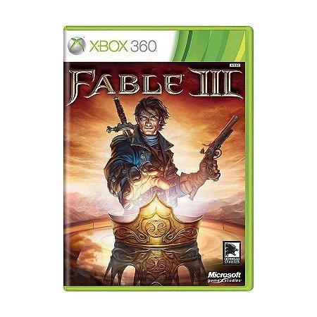 JOGO FABLE III XBOX 360