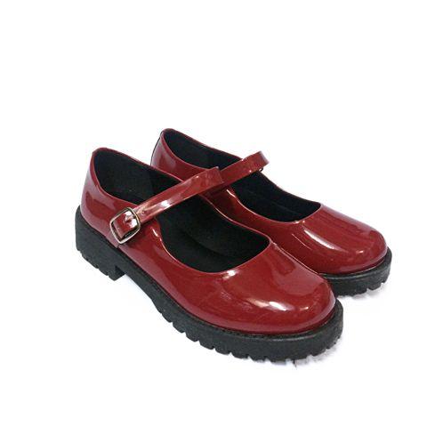 4a80d3f9ab Sapato Boneca Mary Jane Retrô Vintage Verniz Bico Redondo - Jaque ...