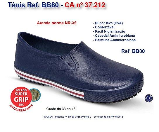 TENIS EVA BB80 BR/PR/VM/AZ