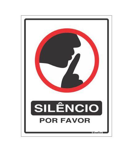 PLACA 15X20 SILENCIO