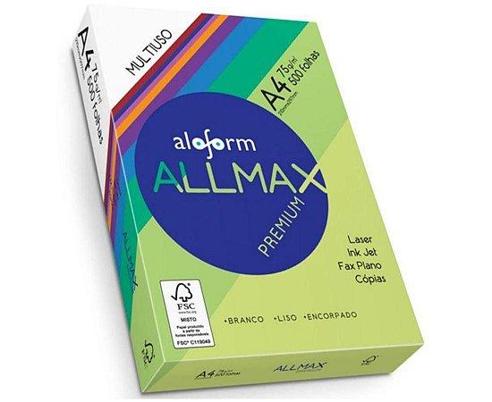Papel Sulfite A4 75Gr Resma C/ 500 Folhas Aloform