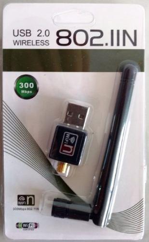 Adaptador Usb 2.0 Wireless 802.iin Wifi 300mbps 802.11n
