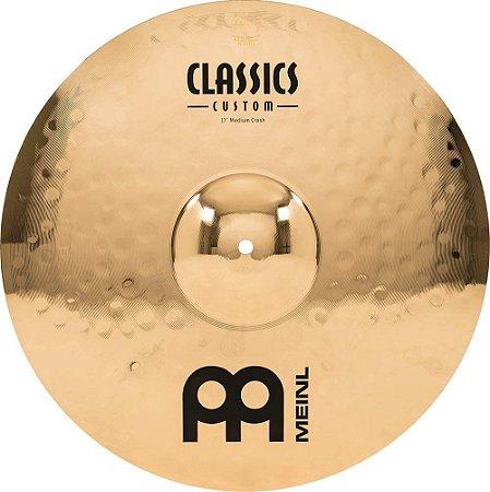 "Meinl 17 ""Medium Crash Cymbal - Classics Custom Brilliant"