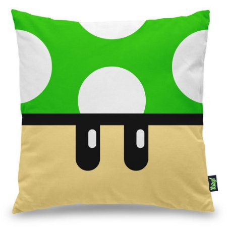 Almofada Gamer Cogumelo Verde 1
