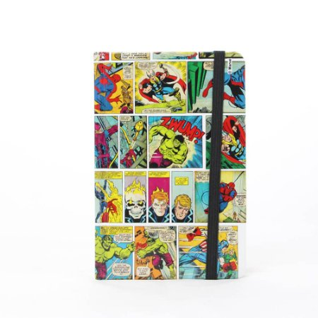 CADERNO DE ANOTAÇOES MARVEL HQ COLOR