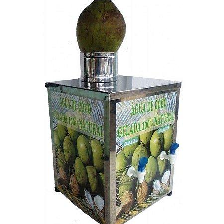 Serpentina de Coco Inox com 3 Torneiras 2 Litros