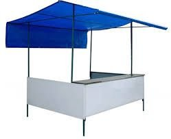 Barraca de 1,50 x 1,00 com Toldo