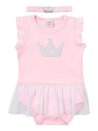Kit para Bebê Marlan Body e Faixa Rainha Rosa