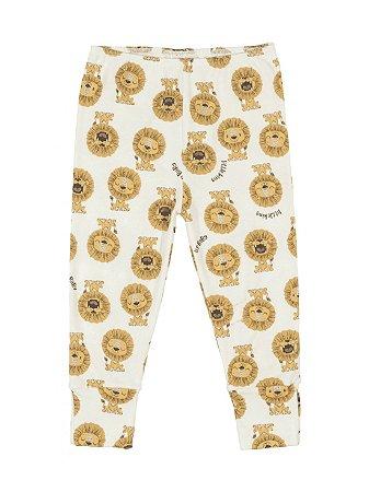 Calça Culote Up Baby em Suedine Leão Amarelo