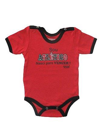 Body Divertido para Bebê Sou Atlético Manga Curta