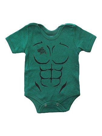 Body Divertido para Bebê Hulk Baby Manga Curta