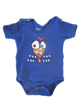 Body Divertido para bebê Galinha Pintadinha Manga Curta